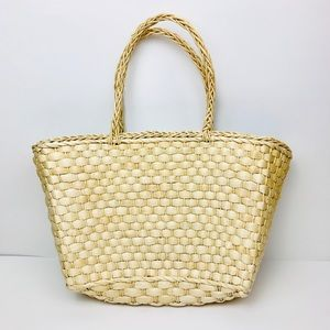 Straw Woven Beach Market Tote Bag